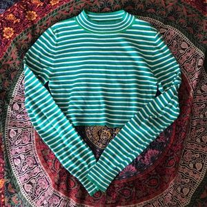 Urban Outfitters mock neck striped crop top